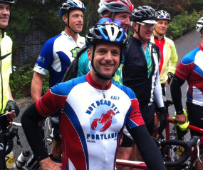 Survivor teams with fellow cyclists to raise funds for foundation