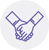 Patient Navigation Service holding hands icon