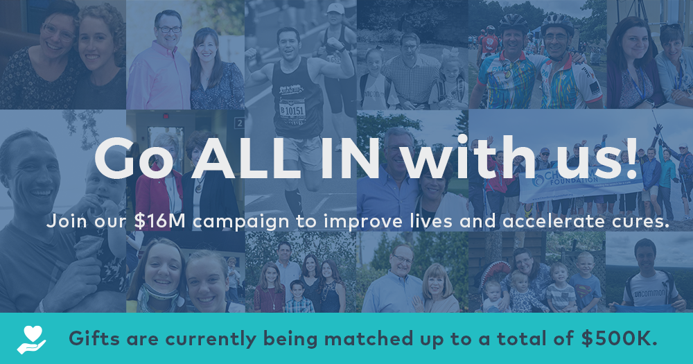 ALL IN campaign to improve lives and accelerate cures