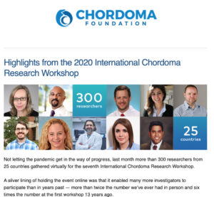 July/August Chordoma Foundation e-newsletter