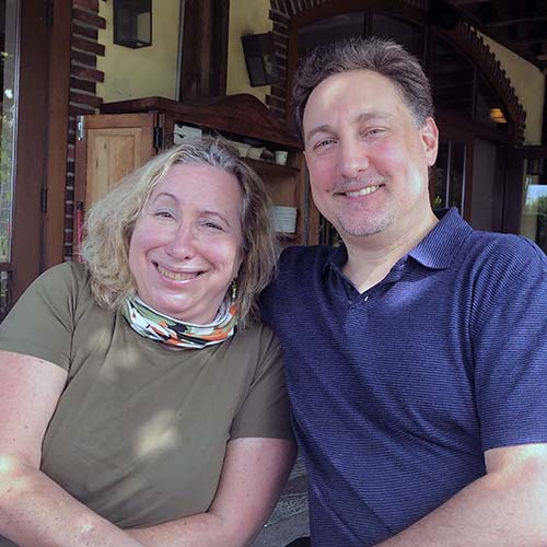 Sharon Berlan and Rob Strauss, chordoma patient and chordoma co-surivivor
